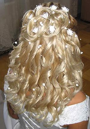 Свадебная шикарная причёска в